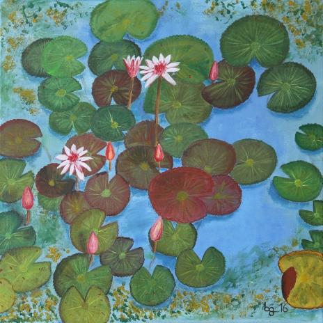 Lotusblüten 60 cm x 60 cm